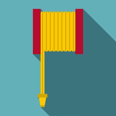 extinguishing: Fire hose icon, flat style
