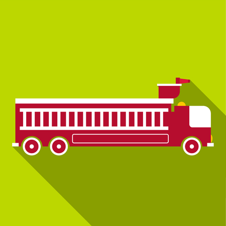 voiture de pompiers: Fire engine icon, flat style