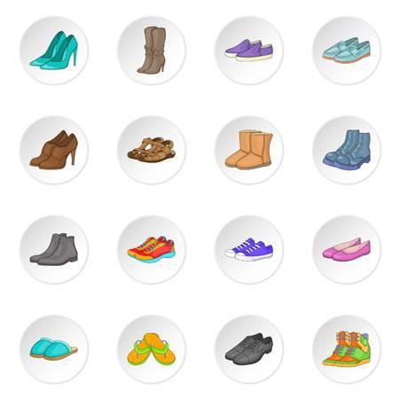keds: Shoe icons set Illustration