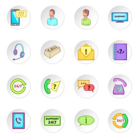 Call center icons set Stock Vector - 70344343