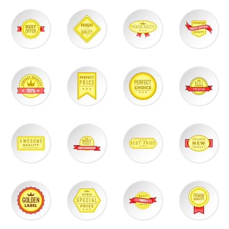 retail: Retail label icons set