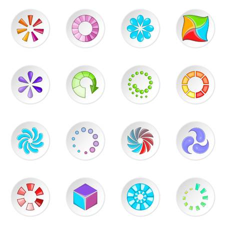status: Download status icons set Illustration