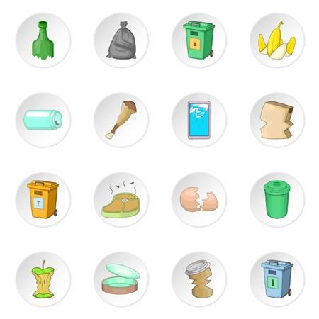 articoli spazzatura set di icone