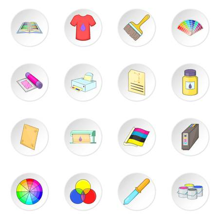 swatches: Print process icons set Stock Photo