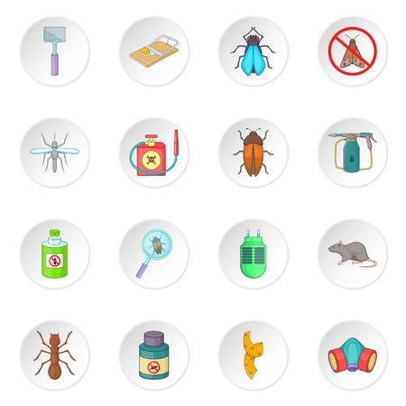 mosquitoes: Exterminator icons set