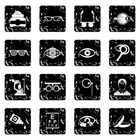 ophthalmologist: Ophthalmologist tools icons set