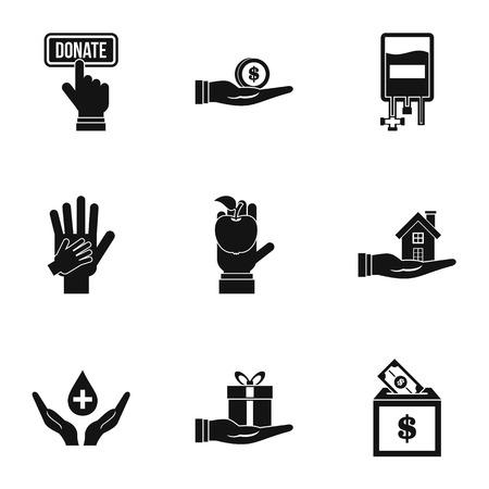 patronage: Patronage icons set, simple style