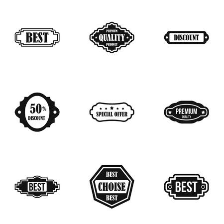 choise: Tag icons set, simple style Illustration