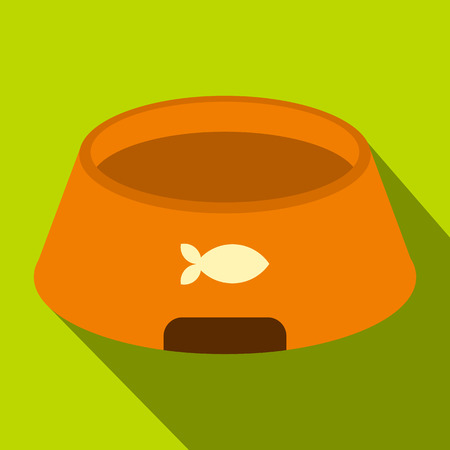 Bowl for animal icon, flat style