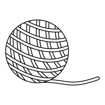 Yarn ball toy for cat icon, outline style