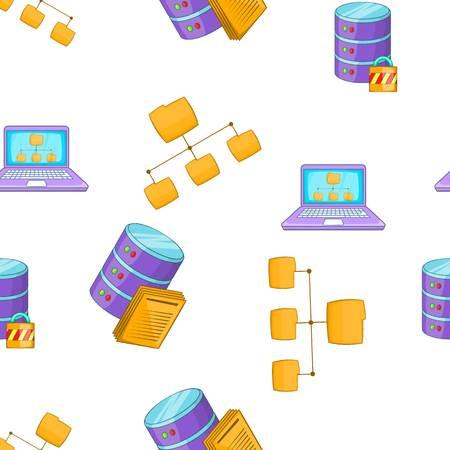setup: Computer setup pattern, cartoon style
