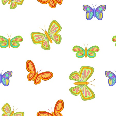 Insects butterflies pattern, cartoon style