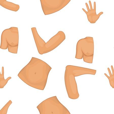 Body pattern, cartoon style Illustration