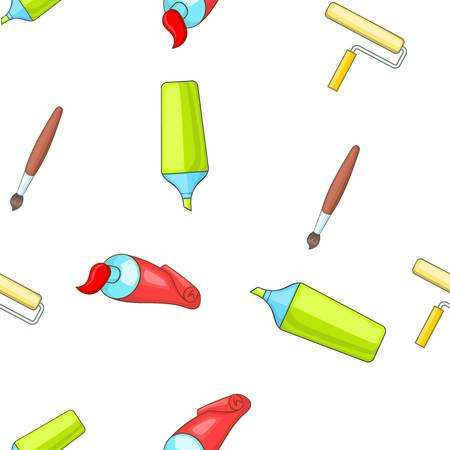 roller brush: Painting pattern, cartoon style Illustration