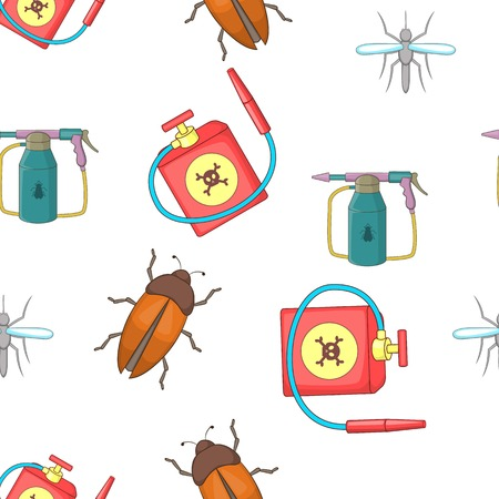 repellent: Harmful insects pattern, cartoon style