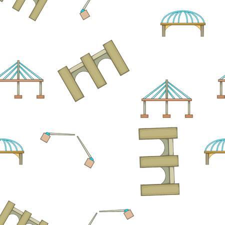 footing: Types of bridges pattern, cartoon style