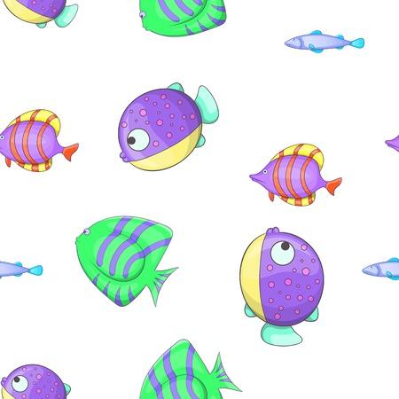 Fish pattern, cartoon style Illustration
