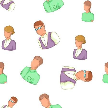 anonymous people: Avatar people pattern, cartoon style