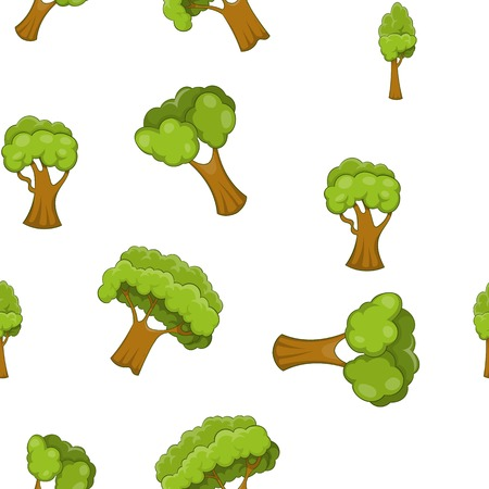 grasslands: Arboreal plant pattern, cartoon style