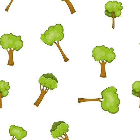 vista: Woody plants pattern, cartoon style