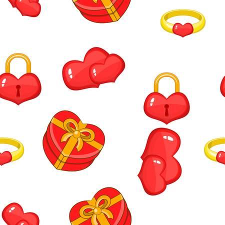 14 February pattern, cartoon style