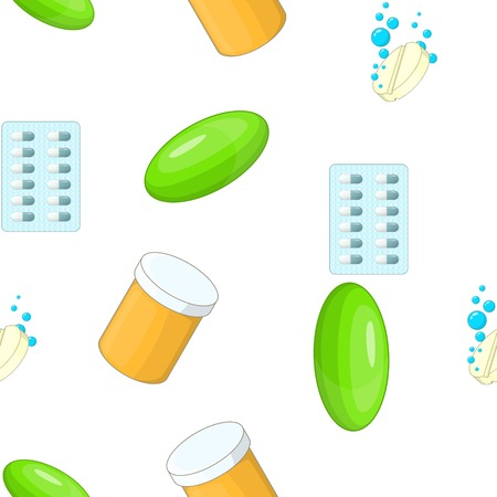 Pills pattern, cartoon style