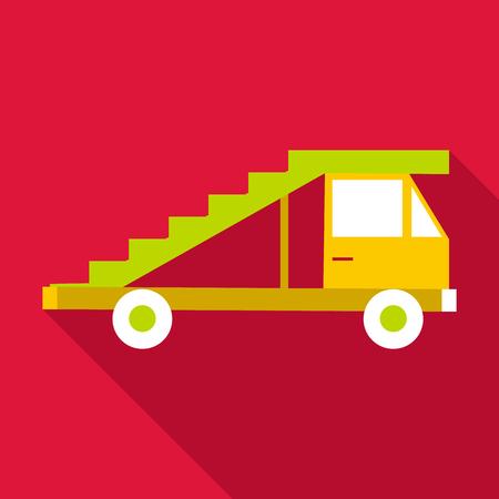 Passenger gangway icon, flat style