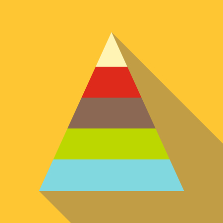 Stacked pyramid icon, cartoon style Illustration