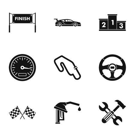 Speed cars icons set, simple style