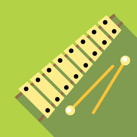 xilofono: icono de xilófono, estilo plano