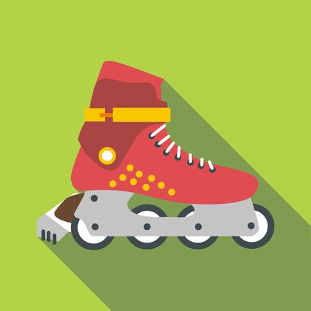 rollerskates: Roller-skates icon, flat style