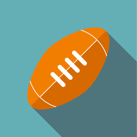 Rugby ball icon, flat style