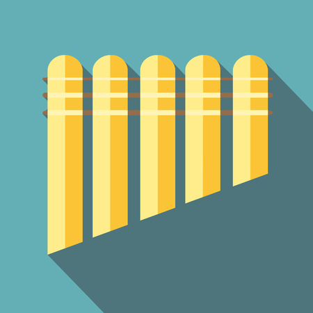 Pan flute icon, flat style Stock Photo