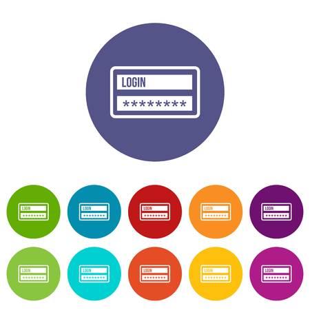 username: Login and password set icons Illustration