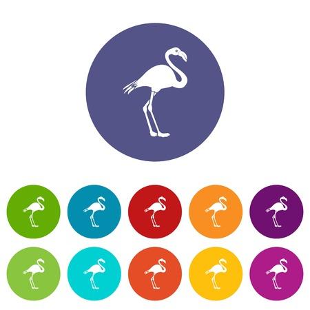 Flamingo set icons
