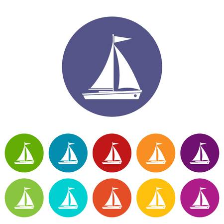 Yacht set icons