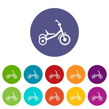 Tricycle set icons