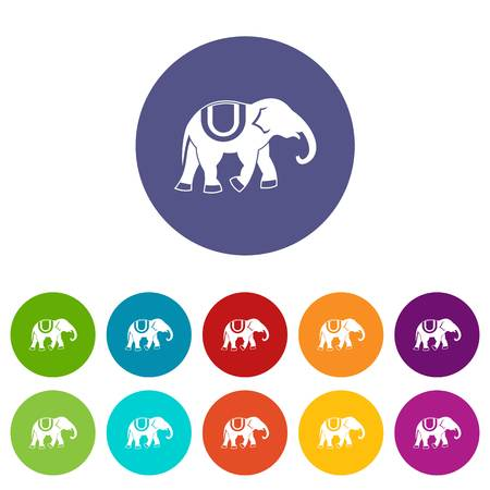 Elephant set icons Illustration