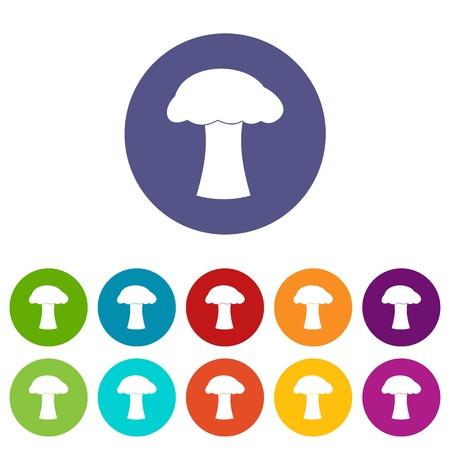 Mushroom set icons Illustration
