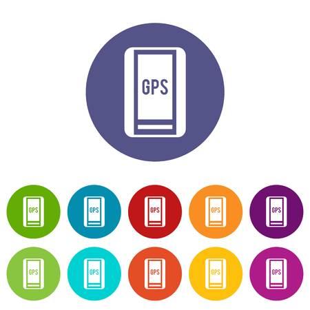 positioning: Global Positioning System set icons