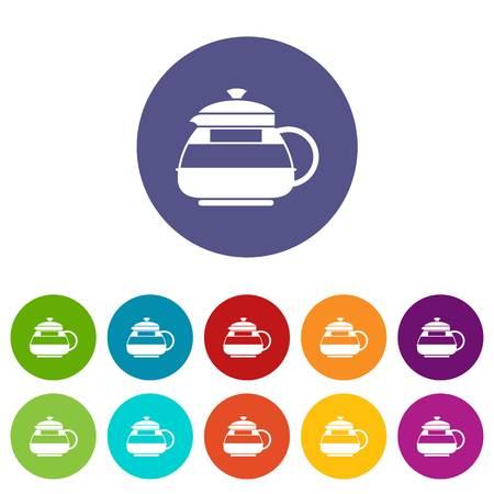 decanter: Glass teapot set icons