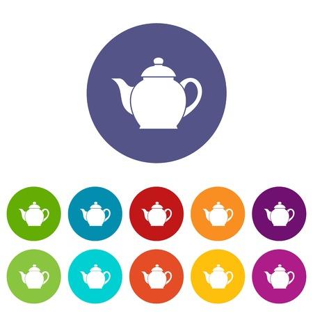 Teapot set icons