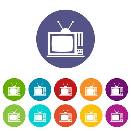 retro tv: Retro TV set icons Illustration