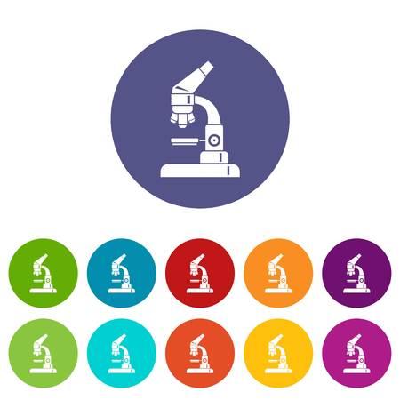 Microscope set icons