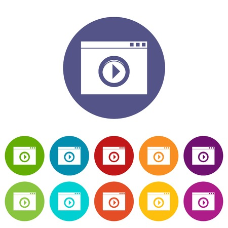 Video player set icons
