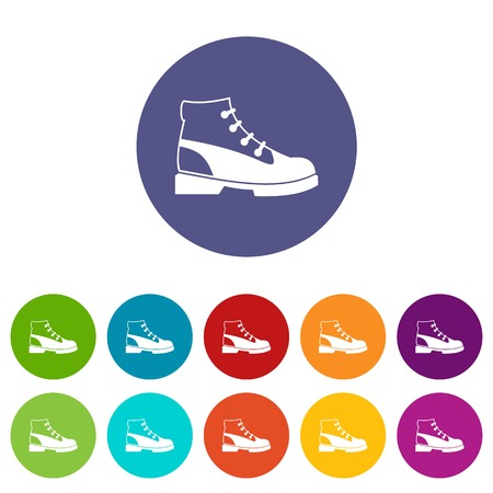 Men oxfords set icons Illustration