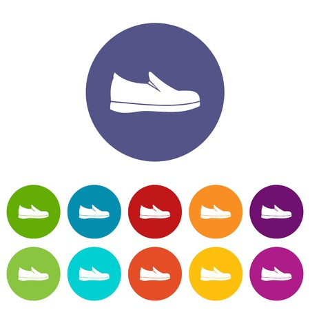 Shoes set icons