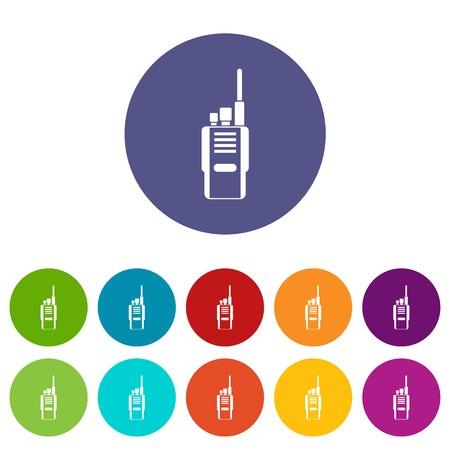 Radio set icons