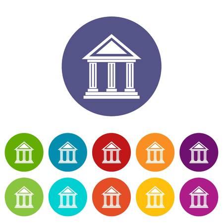 Set Colonnade icônes Banque d'images - 70624664