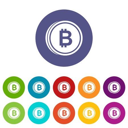 Coin bat set icons